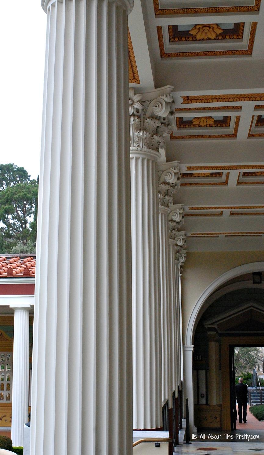 Getty Villa columns in a row