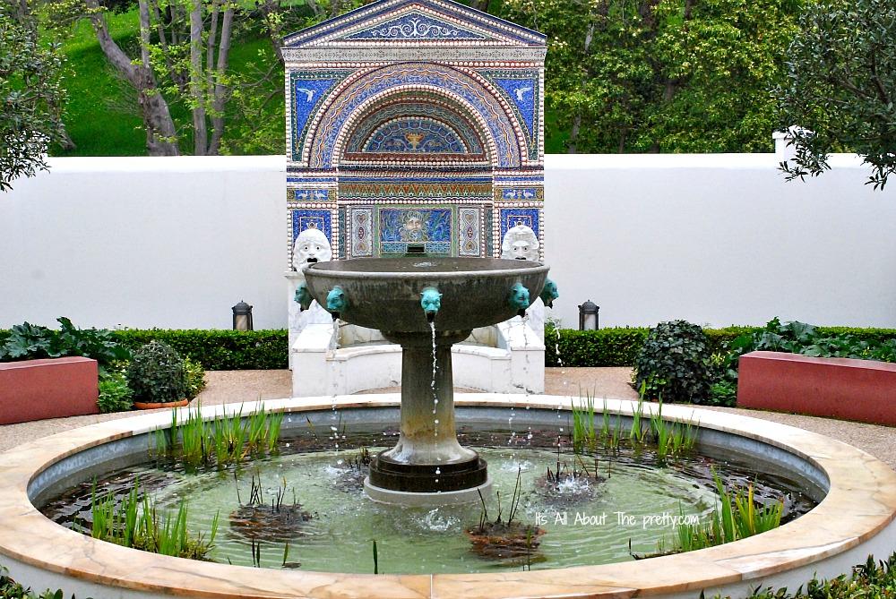 Getty Villa mosaic fountain
