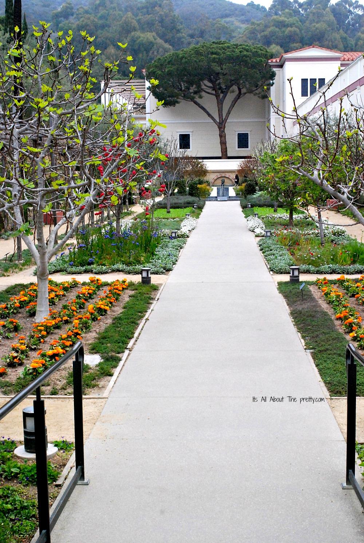 Getty Villa side garden
