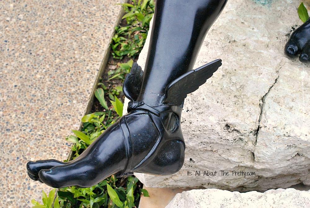 Getty Villa statue foot