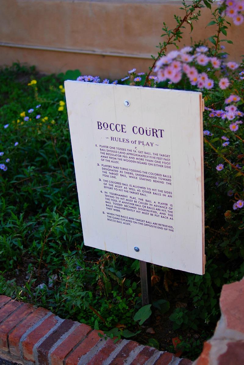 los poblanos Bocce Court