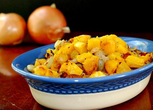 Acorn Squash with onions