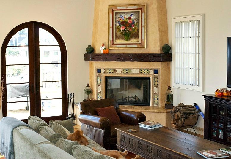P&B family room fireplace