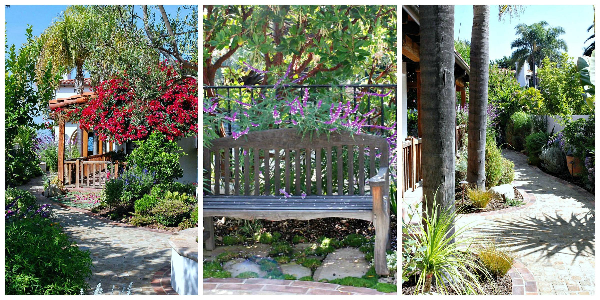 P&B garden entrance Collage