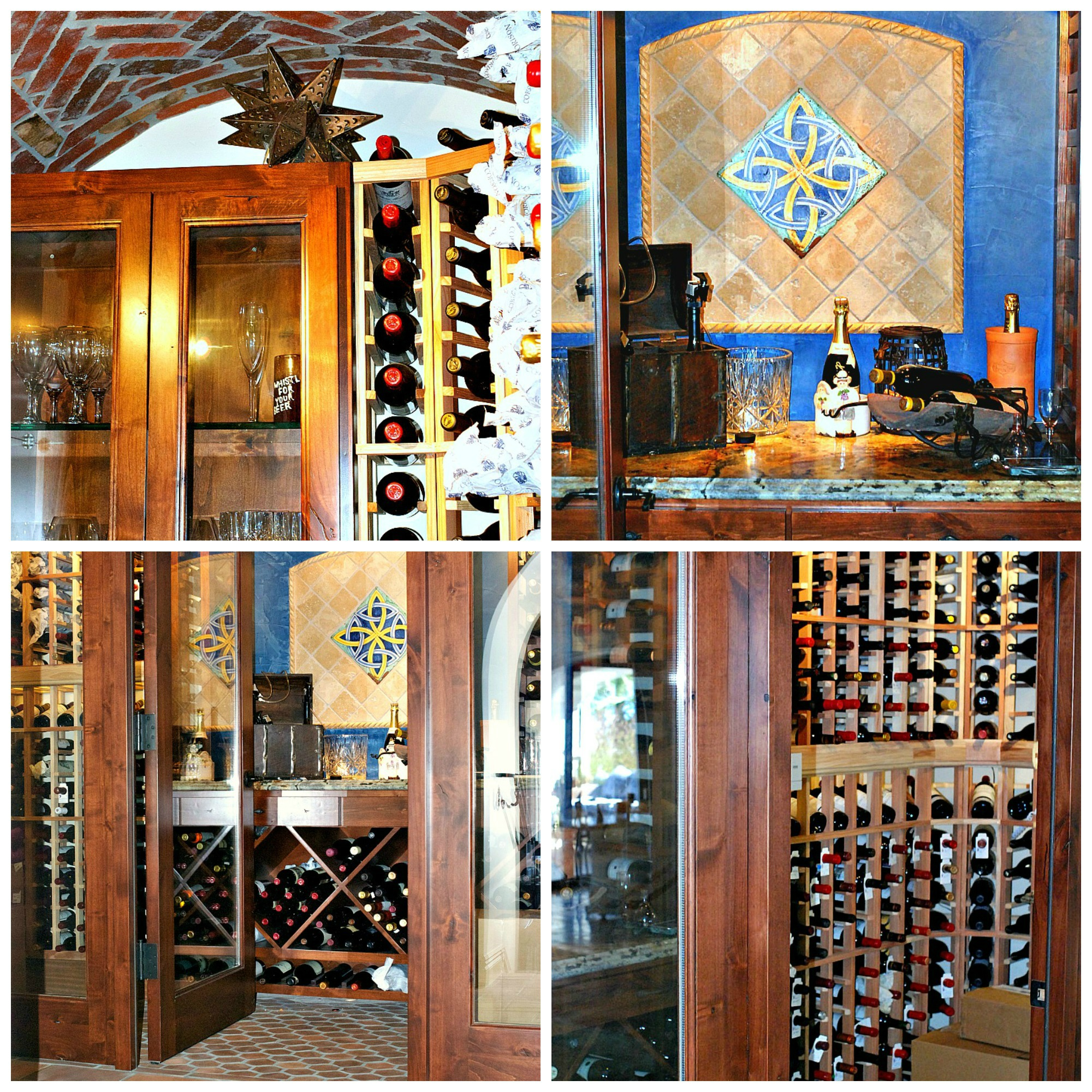 P&B wine cellar Collage