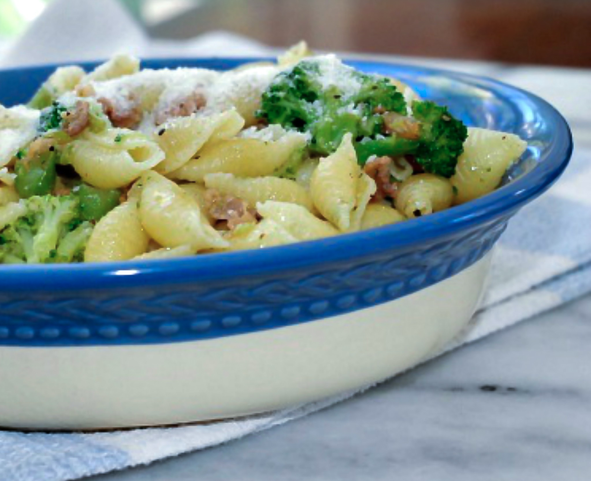 Pasta-with-broccoli and bacon
