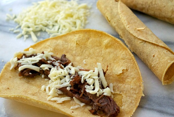 Taquitos Shredded Beef and Cheese