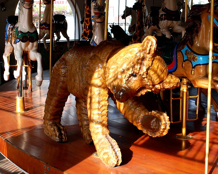 Seaport Village, San Diego Carousel bear