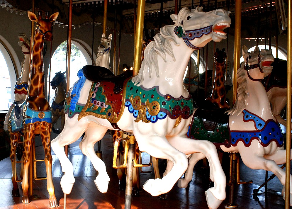 Seaport Village, San Diego Carousel horse