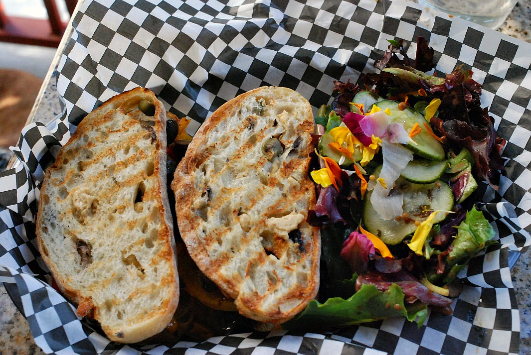 Surfas grilled vegetable sandwich