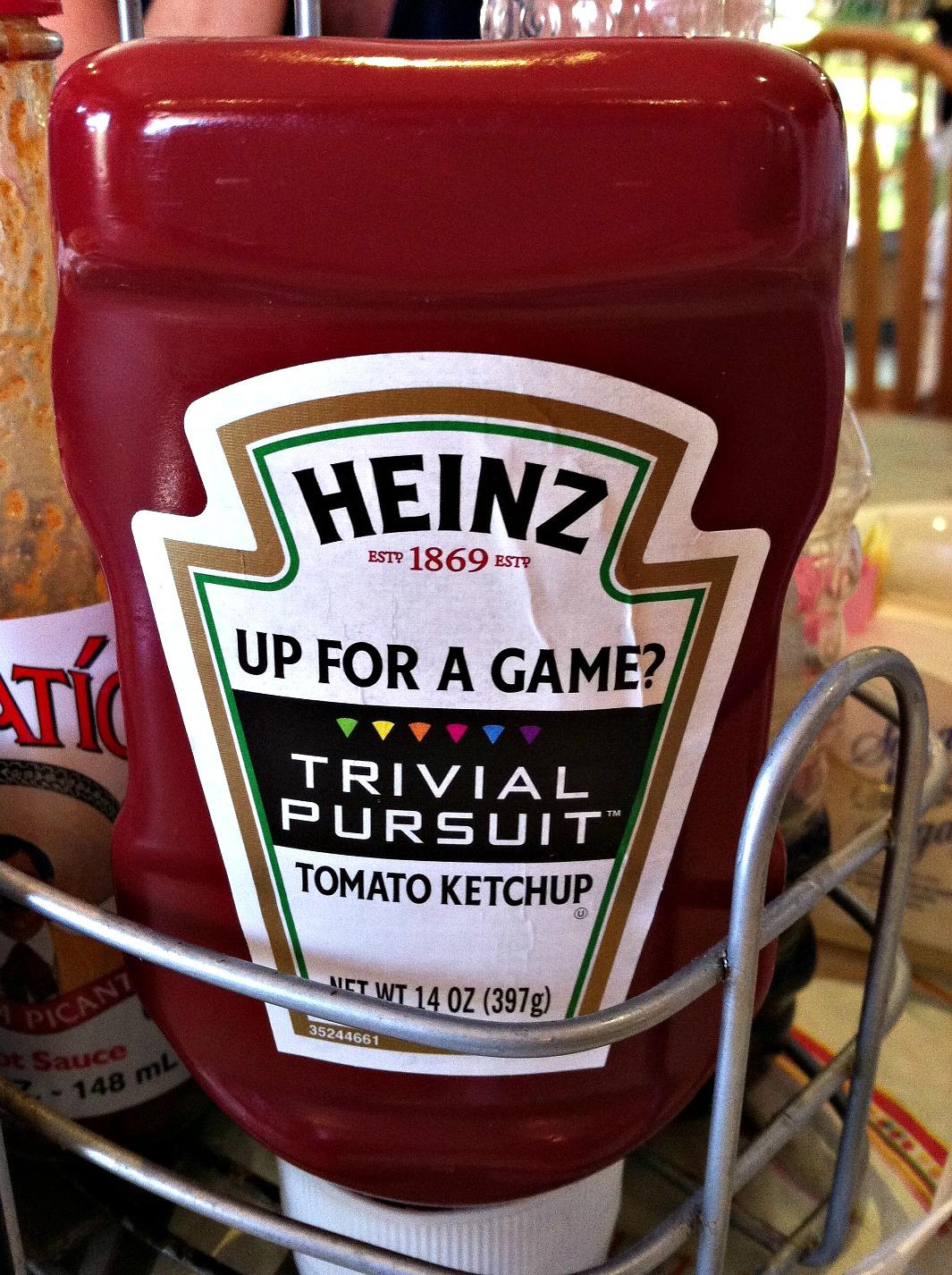 Carlsbad ketchup Trivial Pursuit