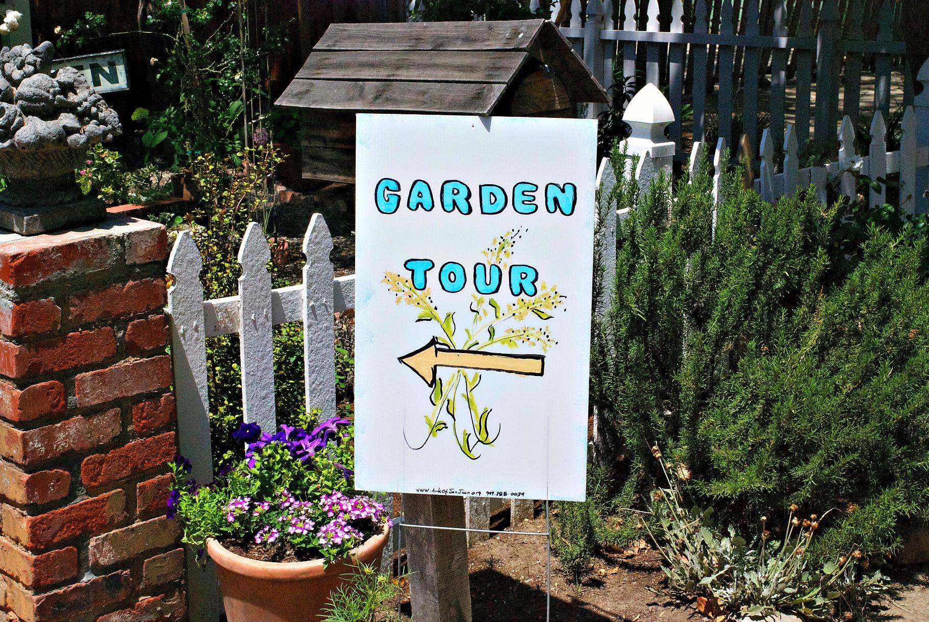 SJC Garden Tour Sign