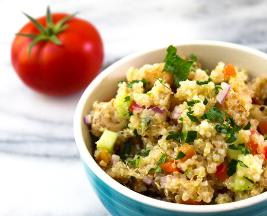 Its all about the yummy Quinoa Chicken Salad