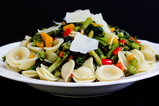 Orecchiette with summer Vegetables