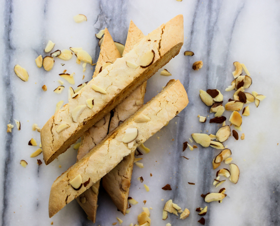 Amaretto Biscotti with almonds