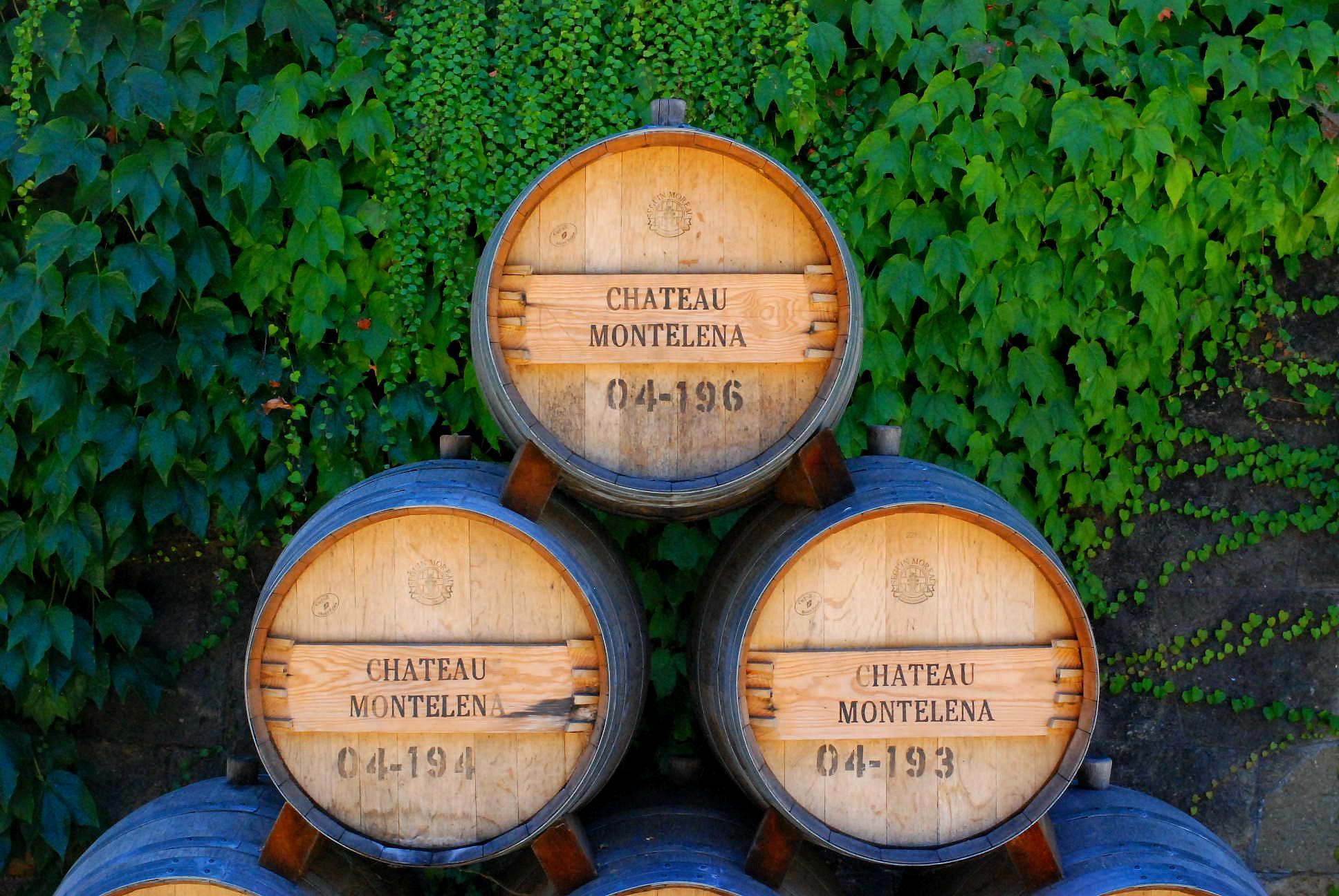 Chateau Montelena Winery. 3 barrels