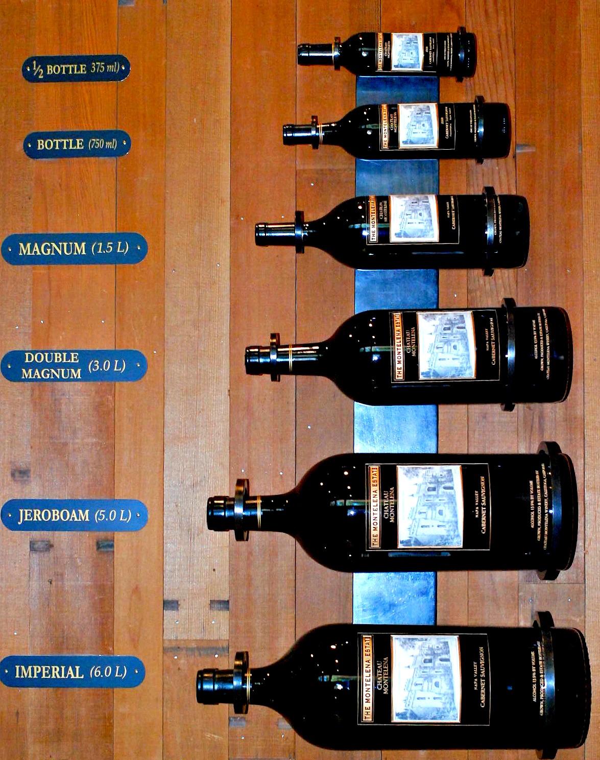Chateau Montelena. bottle sizes