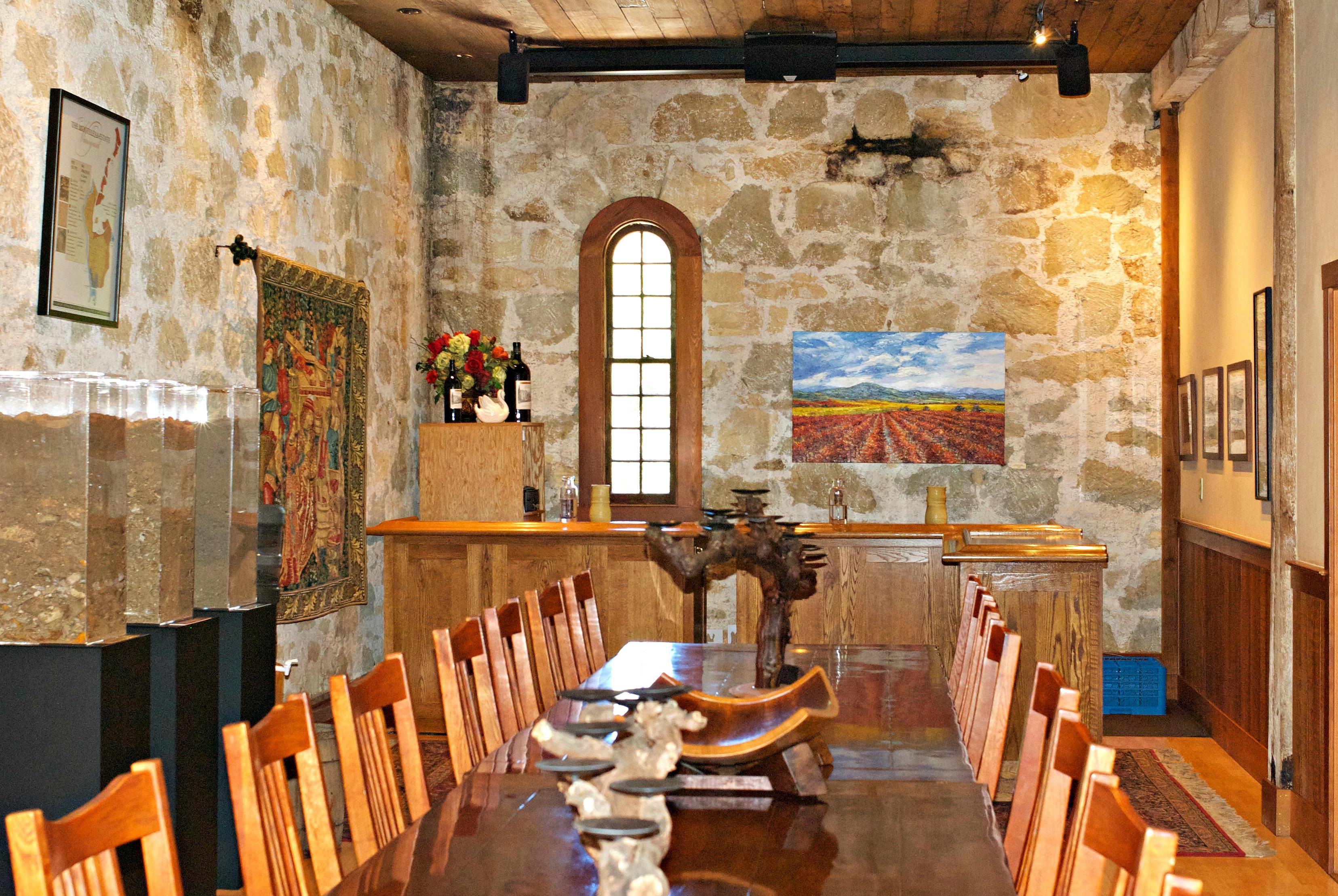 Chateau Montelena. private tasting room