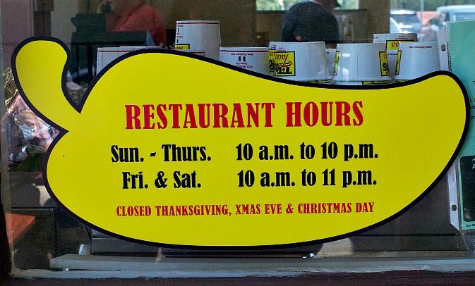 Titos Tacos, Culver City, Hours