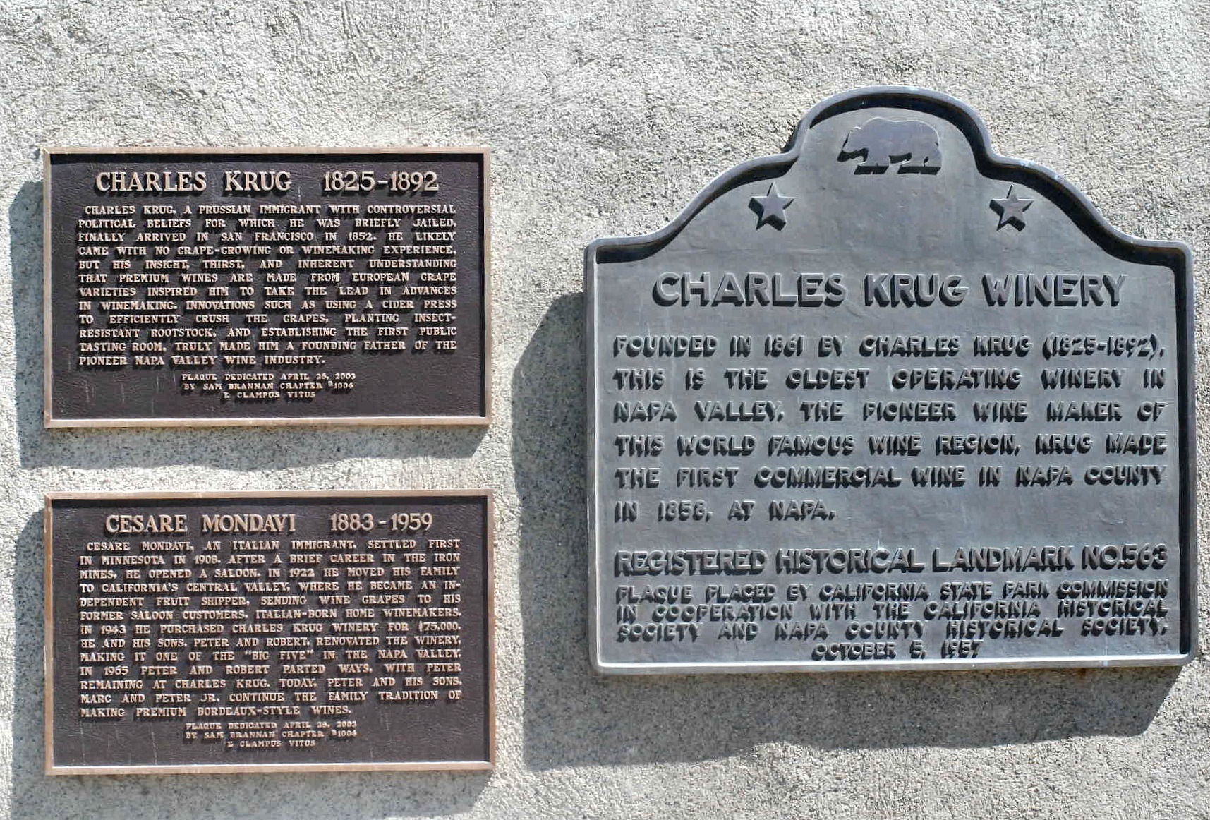 Charles Krug historical signs