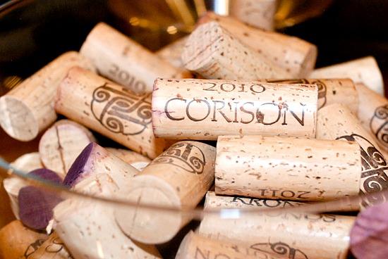 Corison Winery corks, Napa Valley