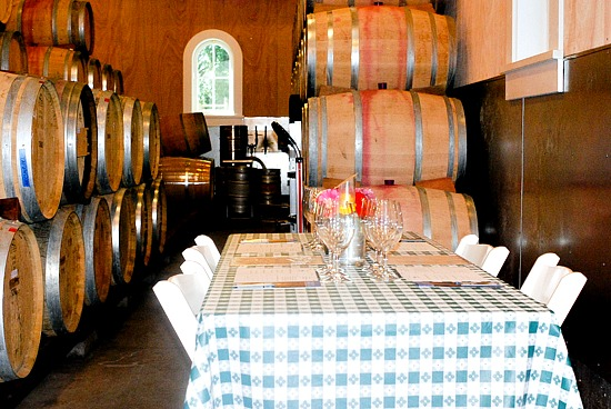 Corison Winery intimate tasting