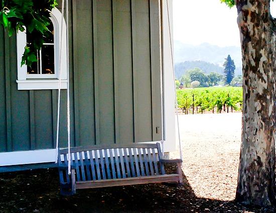 Corison Winery swing