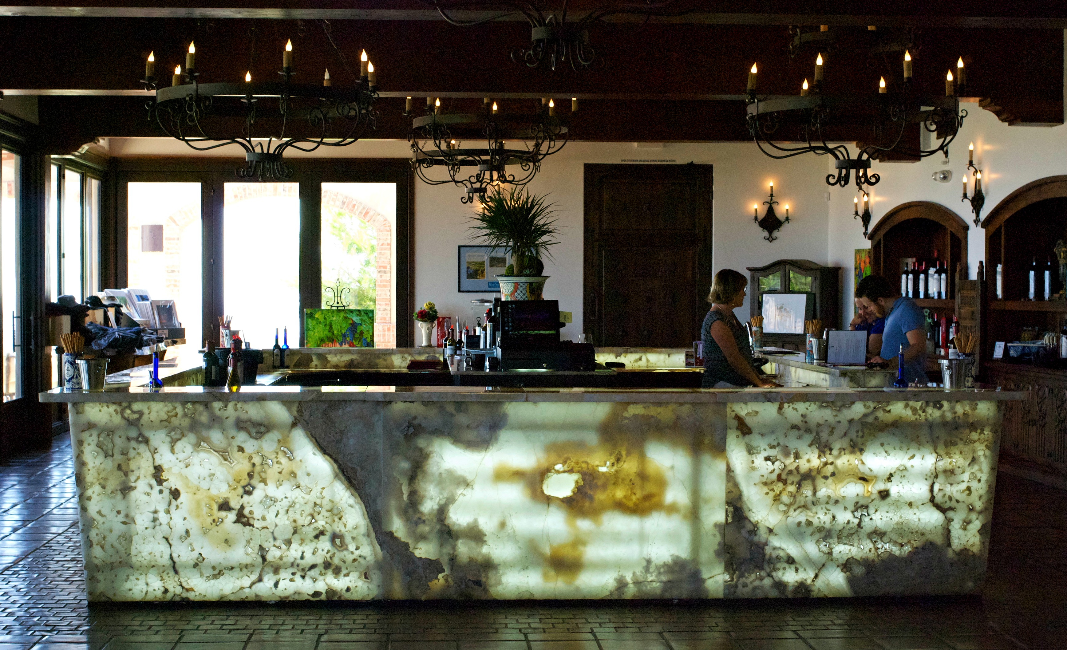 Daou Winery onyx tasting area