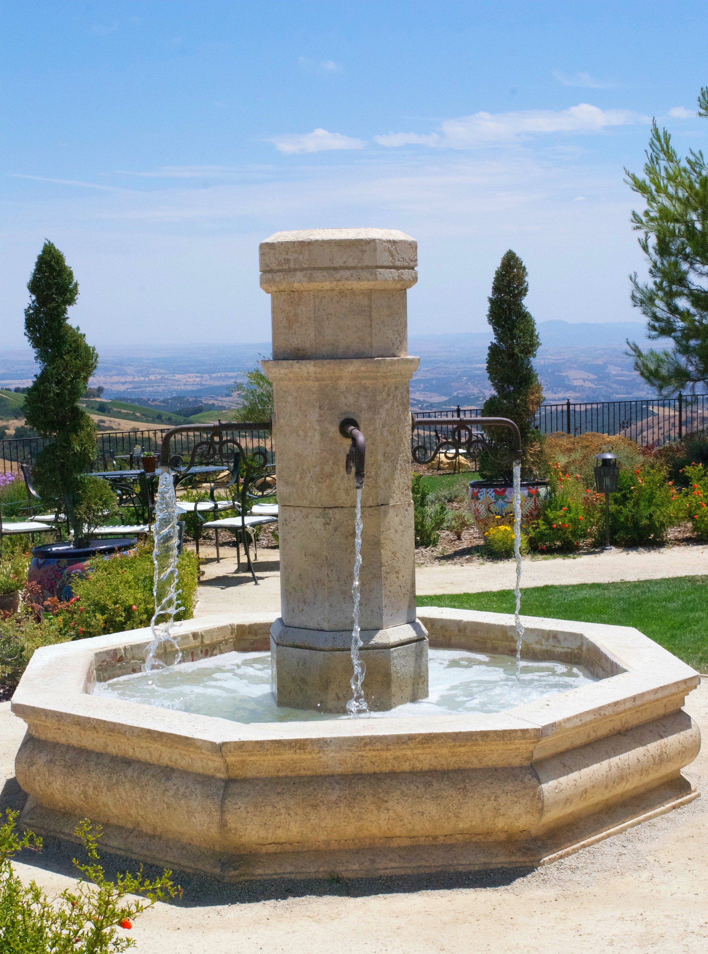 Daou Winery fountain