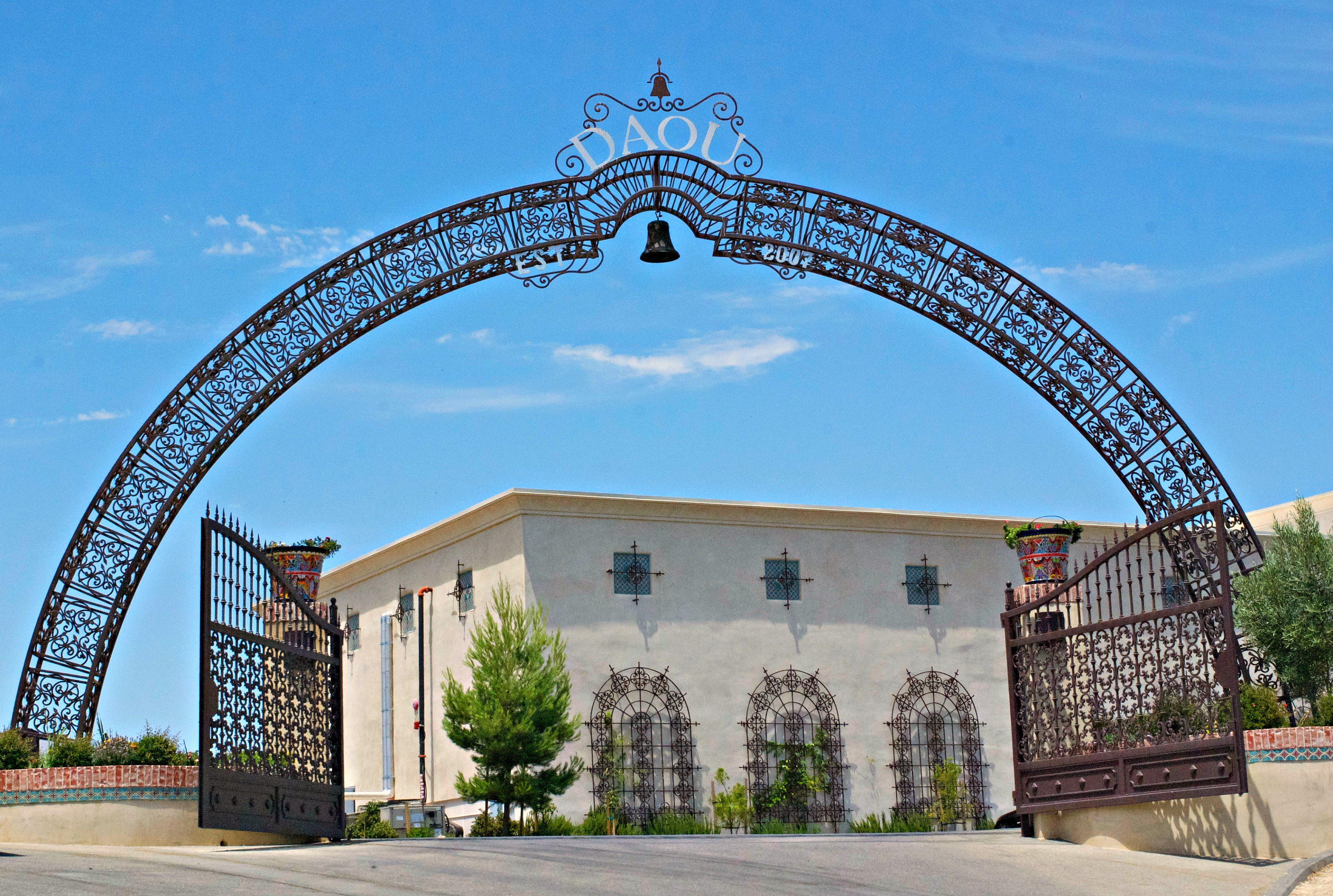 Daou Winery entrance, paso robles