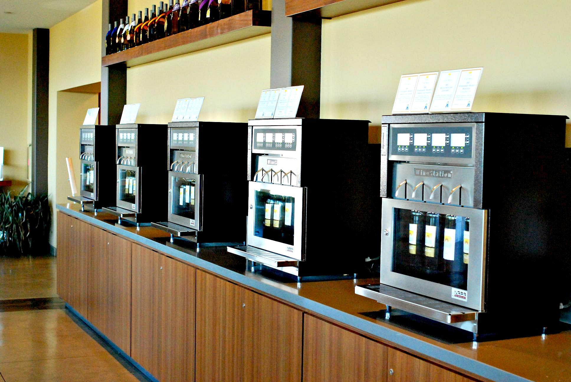 Callaway self serve wine machines