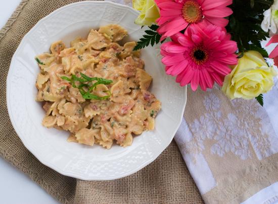 Creamy Tomato Farfalle Pasta, bow tie pasta, spinach tomato tortellini,