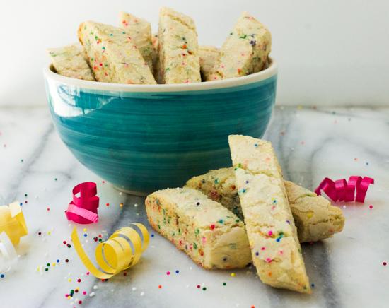 Funfetti Biscotti. sprinkles biscotti