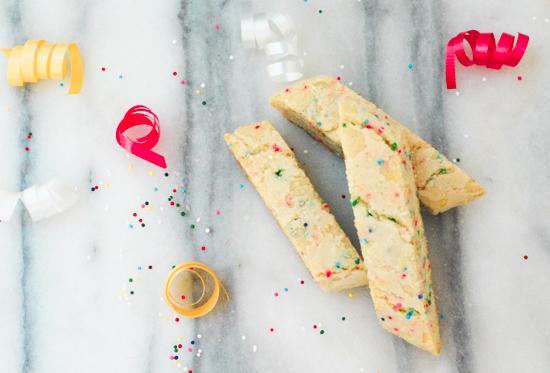 Funfetti Biscotti, Sprinkles Biscotti