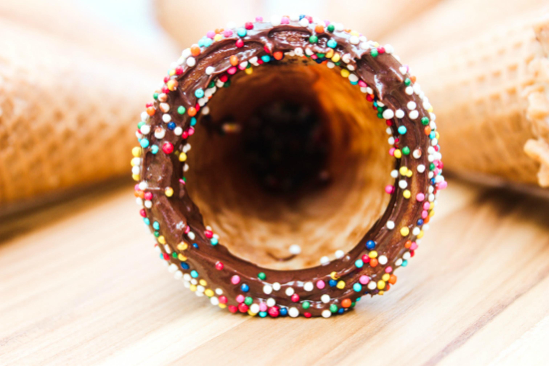 Chocolate Dipped sugar Cones