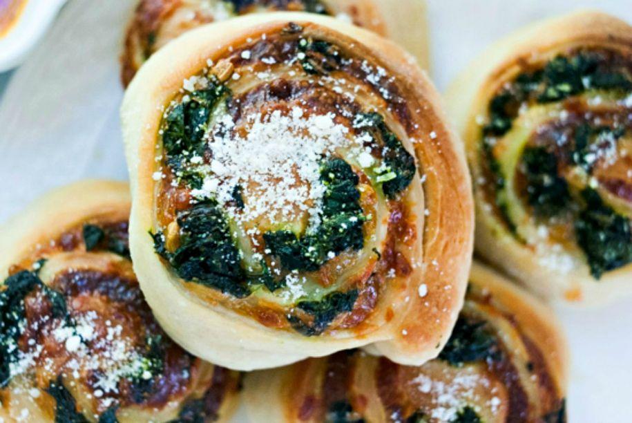 Spinach and Mozzarella Pinwheels