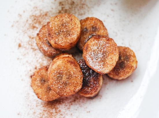 pan fried cinnamon sugar bananas
