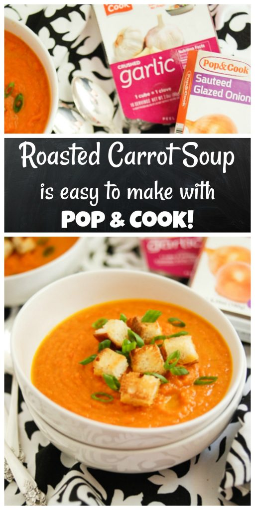 #ad Roasted Carrot Soup is easy with Pop & Cook