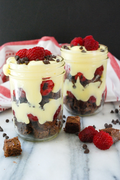 Individual Pudding and Brownie Trifles