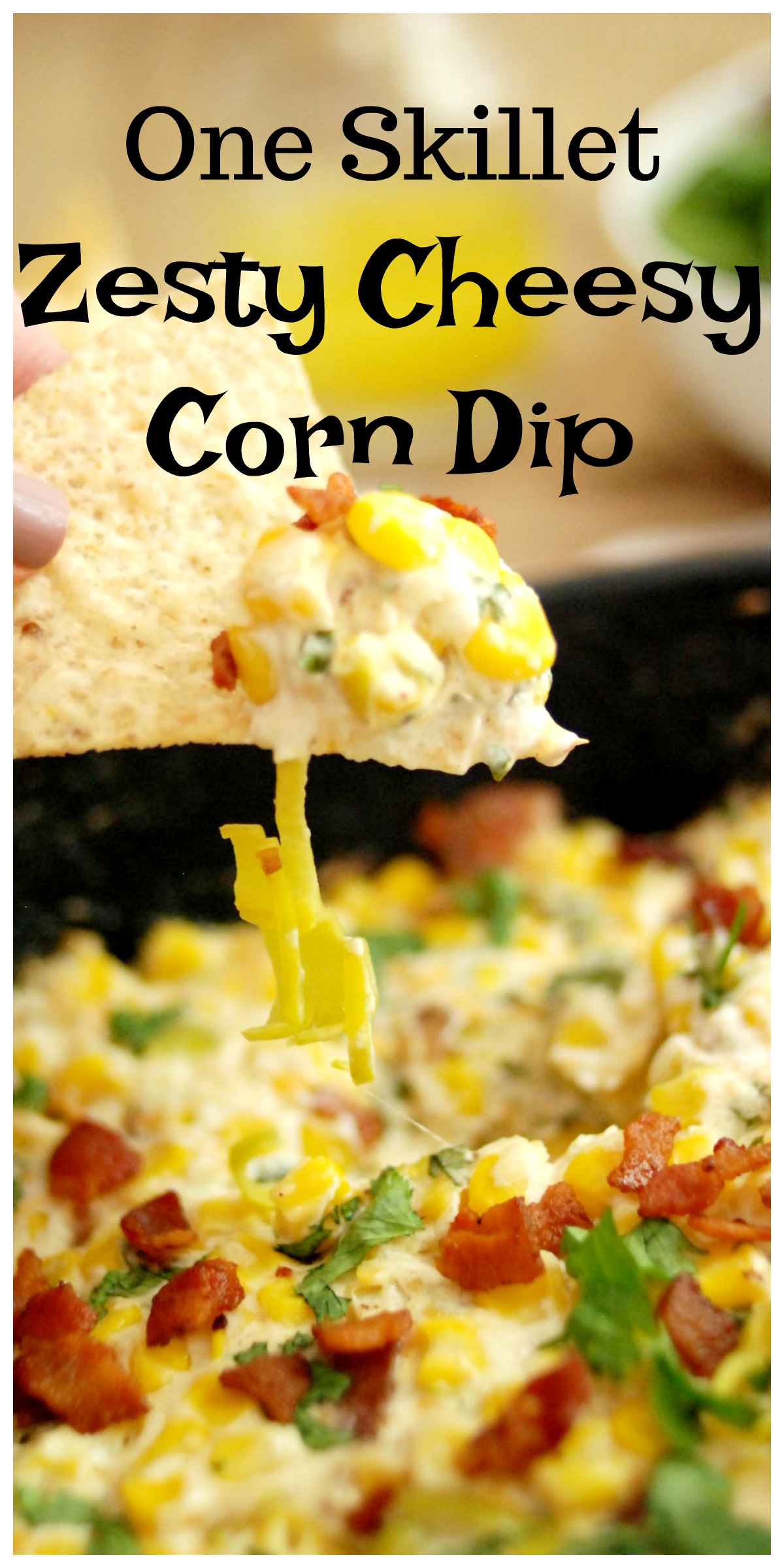 One Skillet Zesty Cheezy Corn Dip #AD @Mezzetta So delicious and super yummy. You won't be able to eat just one bite!