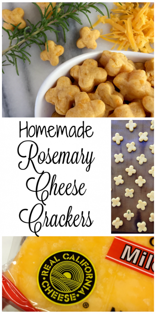 Homemade Rosemary Cheese Crackers #AD #SealsForGood