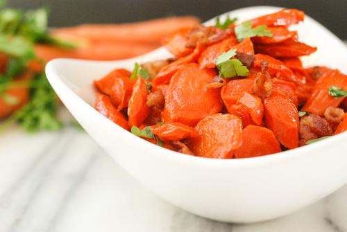 Maple Glazed Bacon Carrots