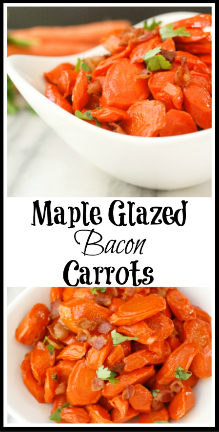 Maple Glazed Bacon Carrots. Easy and delicious!