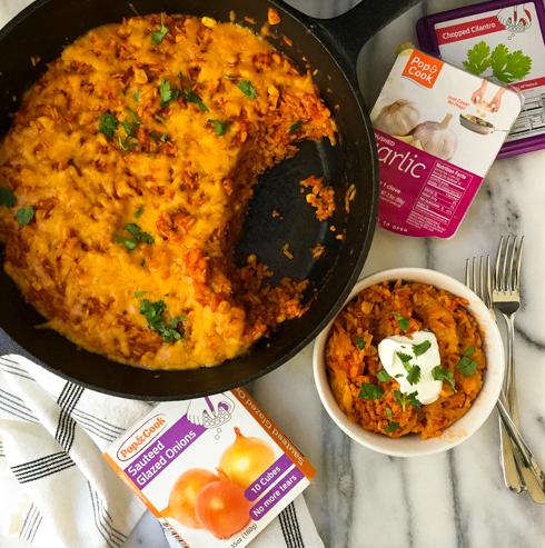 One Pot Cheesy Rice Casserole